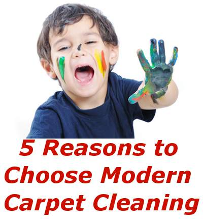 5 Reasons to Choose Modern Carpet Cleaning